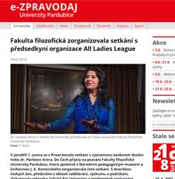 'Fakulta filozofická zorganizovala setkání s předsedkyní_' - zpravodaj_upce_cz_univerzita_2016_setkani-s-harbeen-arorou
