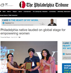 Philadelphia native lauded on global stage for empowering women